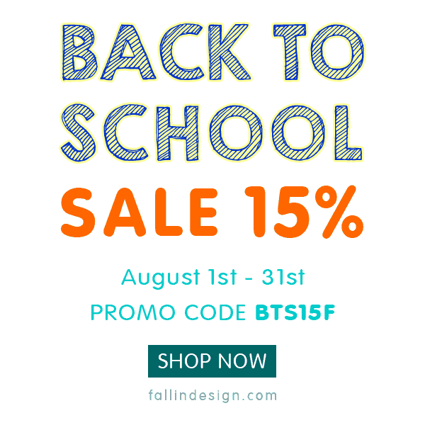 Fallindesign 2019 Back To School Sale